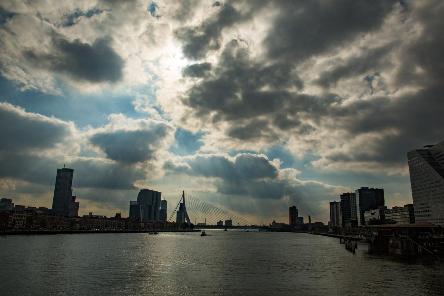 het weer in Rotterdam